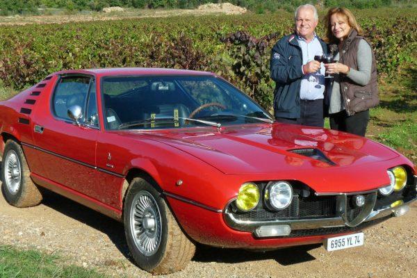 Une Alfa Romeo Montreal en Provence   + le nouveau Stelvio