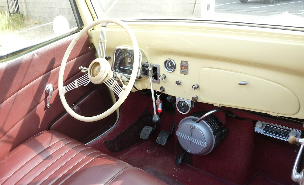 interieur Traction cabriolet