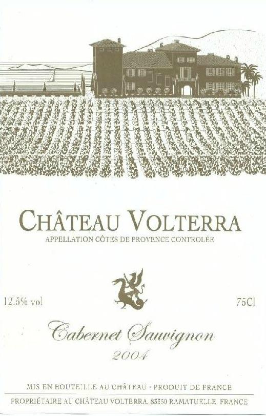 Etiquette de château Volterra