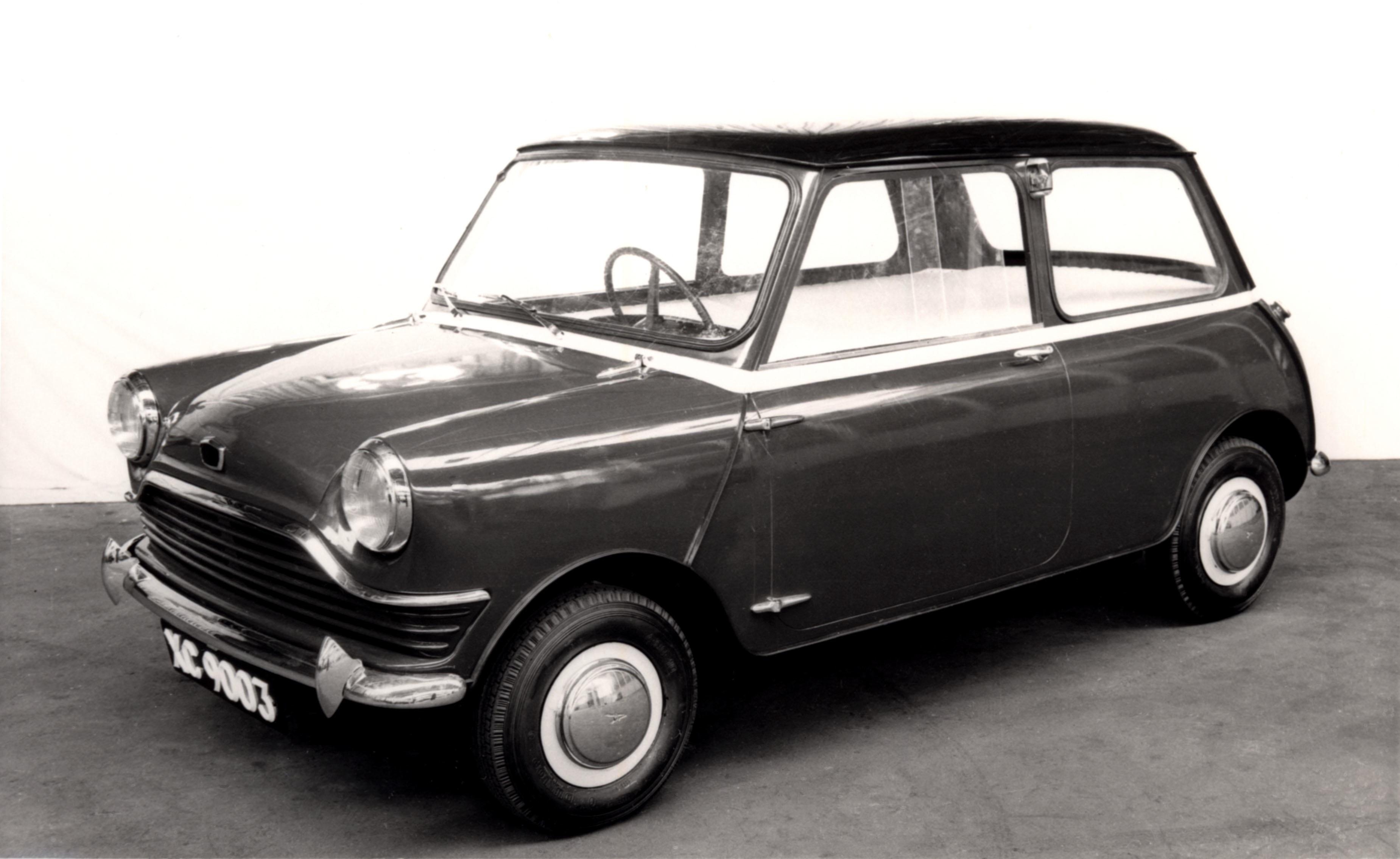 premier prototype de la mini en 1957
