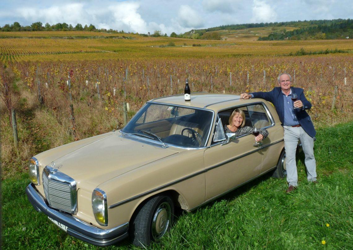 Vincent Lumpp et son coupé Mercedes 280 CE à Givry