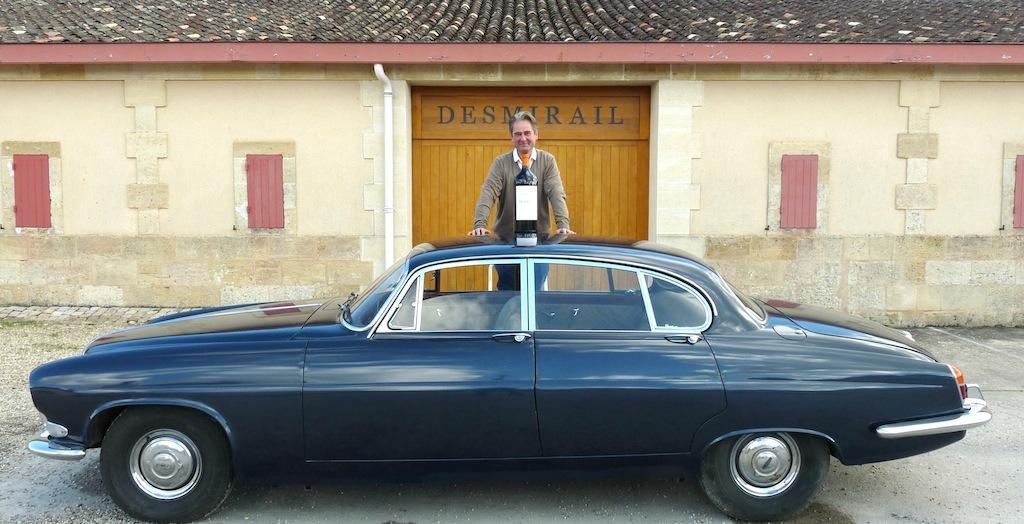 Jaguar MKX de Denis Lurton à chateau Desmirail