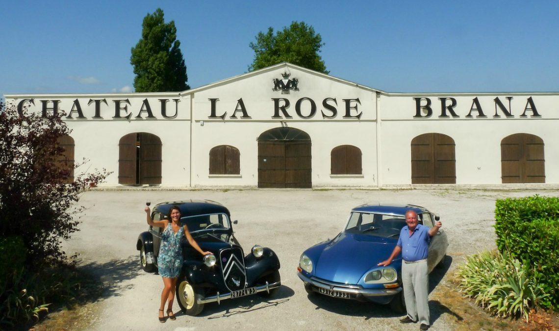 Les Citroën du Château La Rose Brana