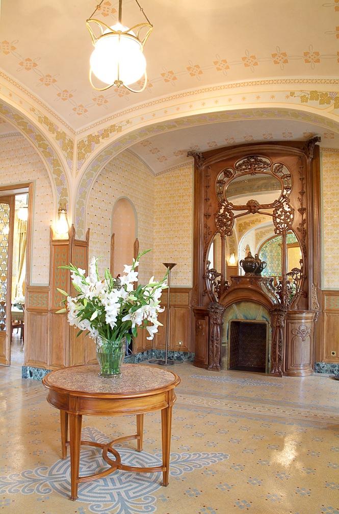 L'intérieur art nouveau de la villa Mademoiselle (Photo Marc-Antoine Mouterde)
