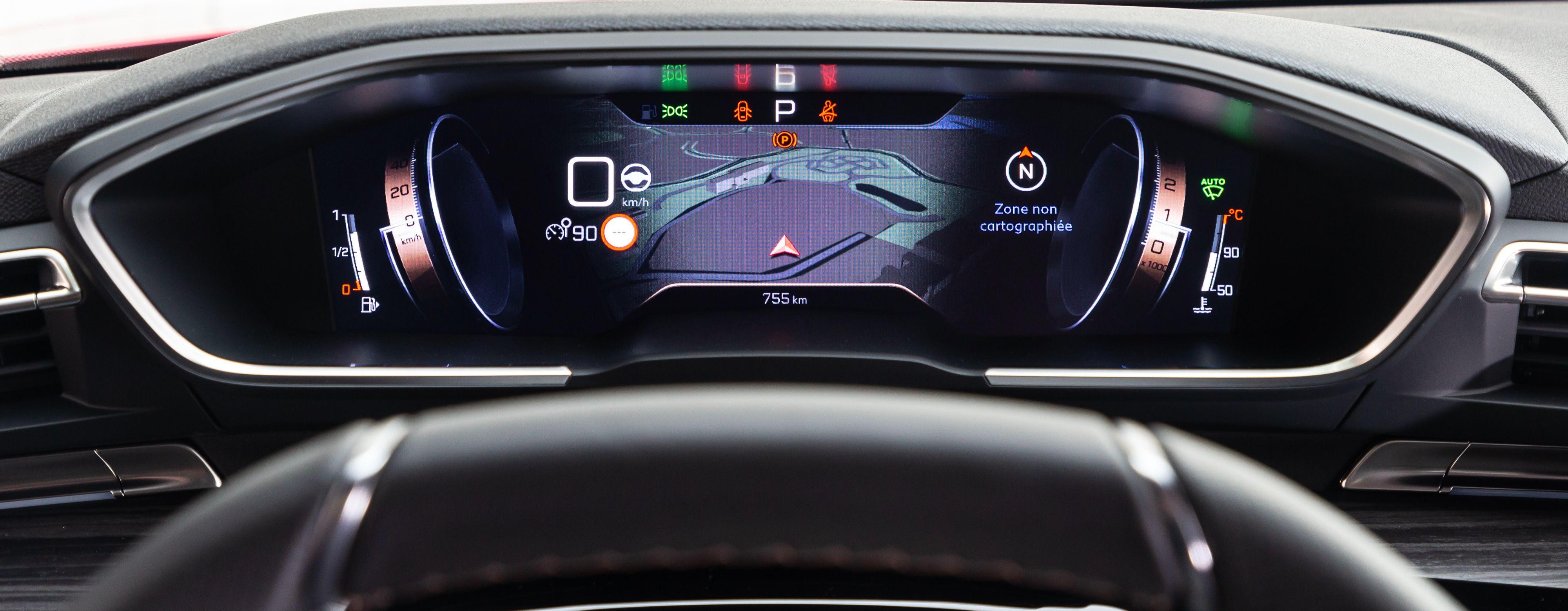 Peugeot 508 :le tableau de bord