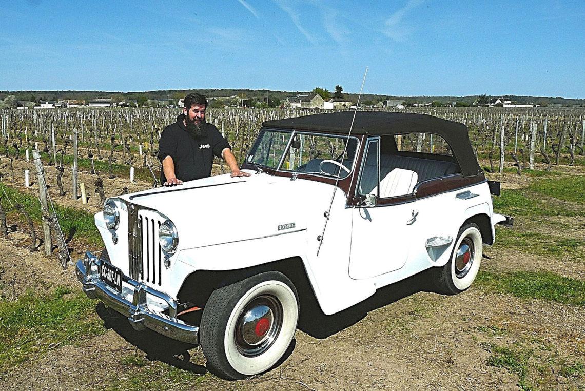 Un fana de Jeep sur Bourgueil