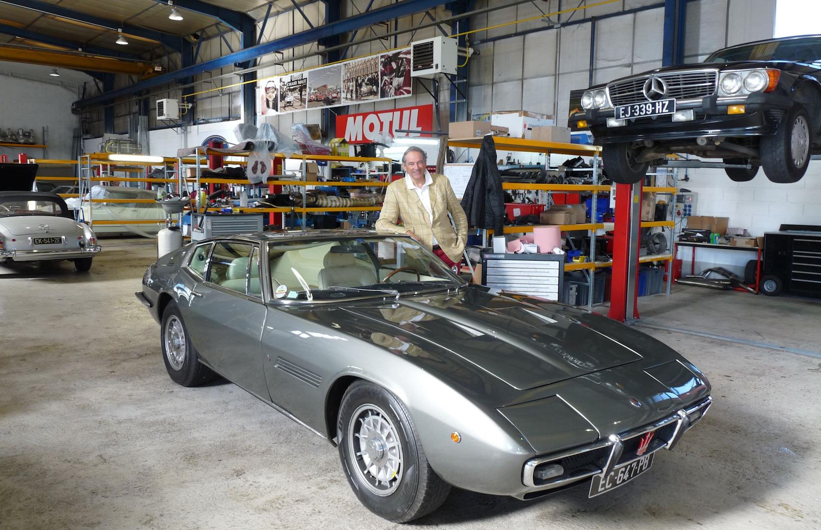 La Maserati Ghibli d'un tycoon du champagne