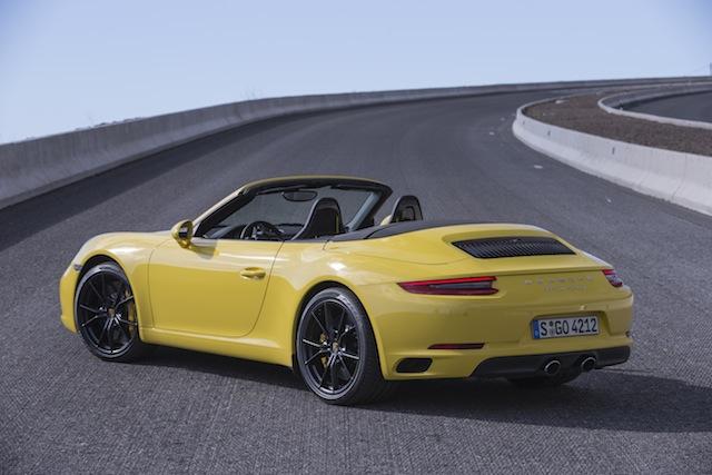 Porsche carrera 4 S cabriolet vue arrière