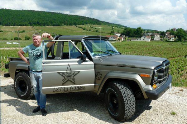 Une américaine en Bourgogne, la Jeep J 10
