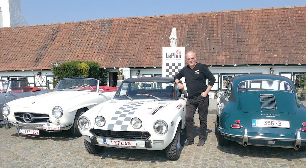 Dirk vermeersch avec sa spider 124 en rallye