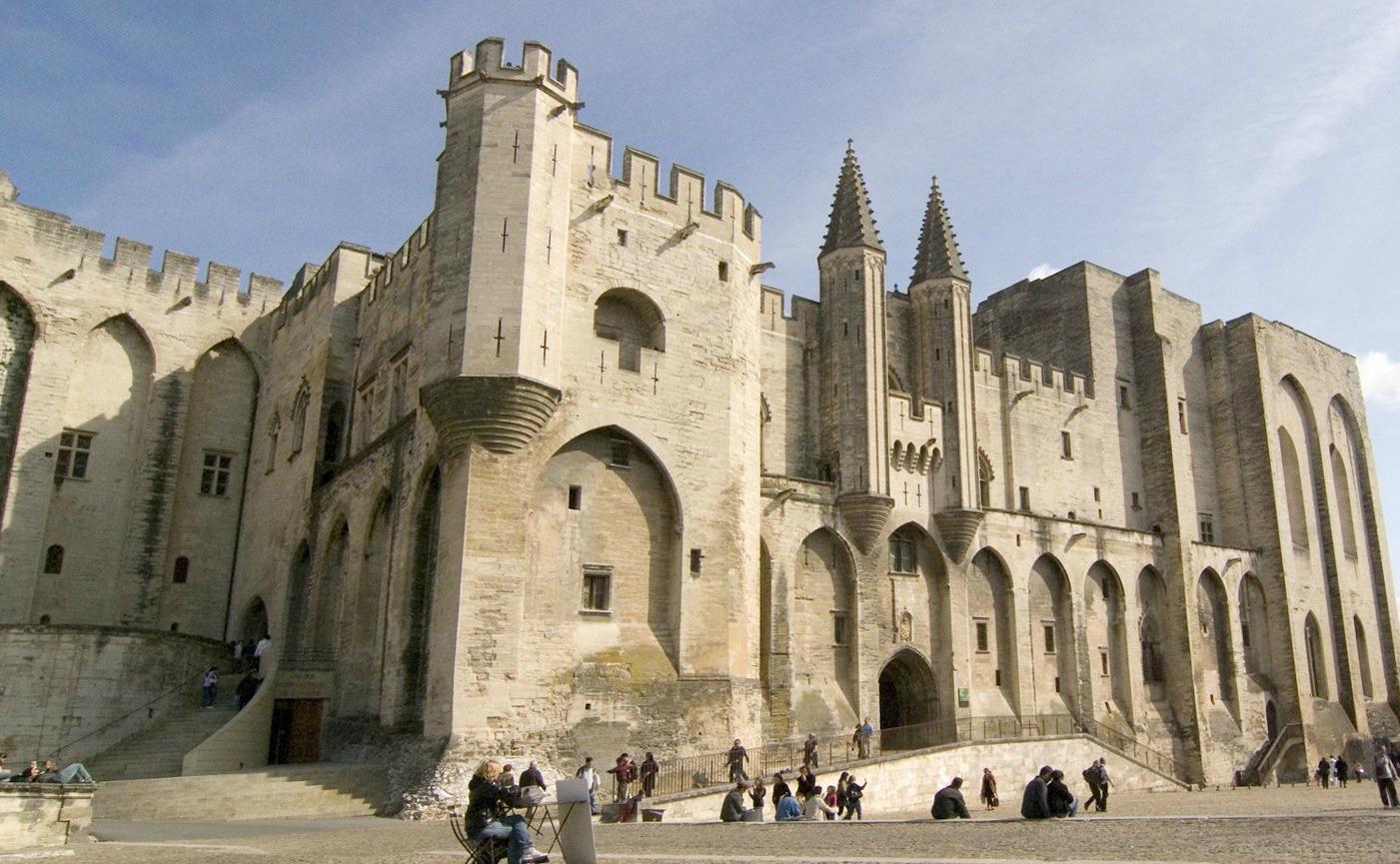 Le Palais des papes à Avignon (C.Rodde)
