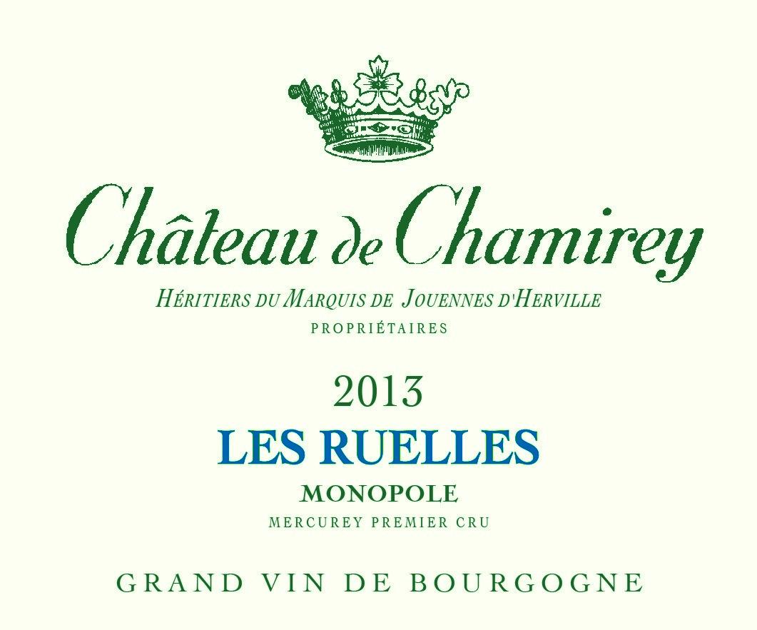 Etiquette château de Chamirey les Ruelles monopole
