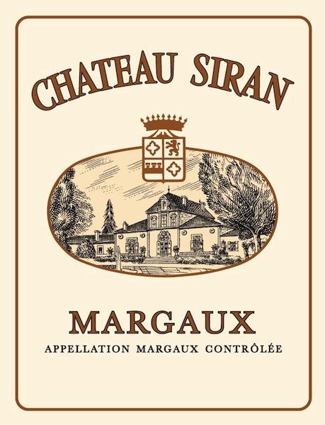 Etiquette de chateau siran