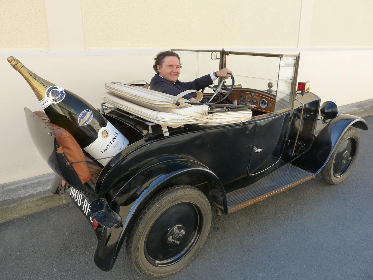 Pierre-Emmanuel Taittinger et sa vieille Peugeot 172 BC de 1924