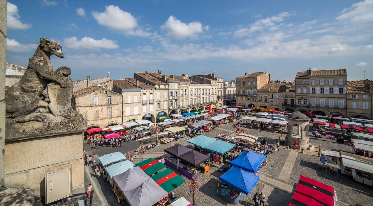 La Grande place du marché de Libourne (Photo le Clech)