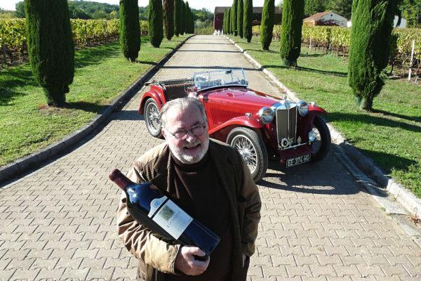 """Une MG TC """"so british"""" chez un épicurien du vin"""