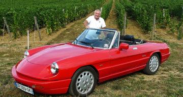 Alfa Romeo spider, du rouge dans le vin jaune
