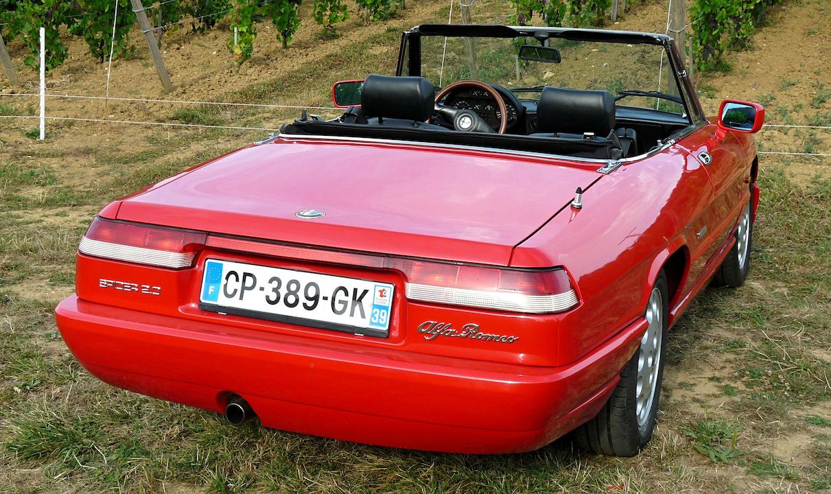 Alfa Romeo spider,arrière