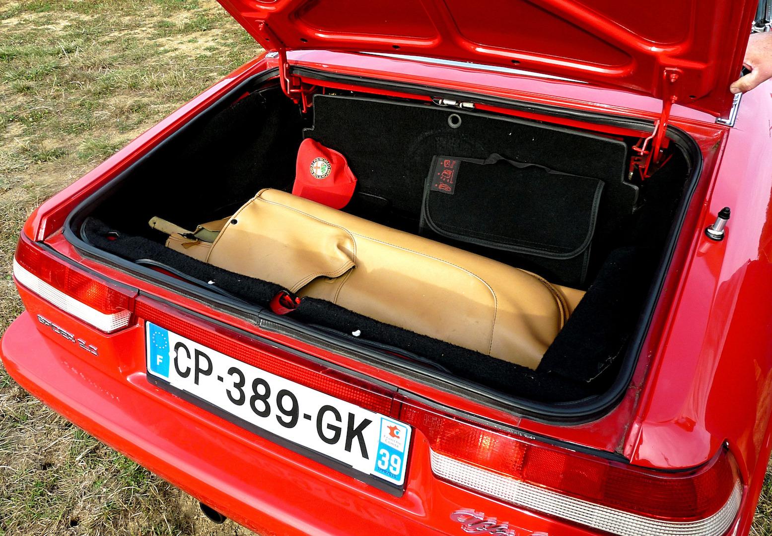 Alfa Romeo spider, coffre