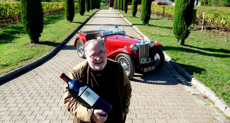 Une MG TC « so british » chez un épicurien du vin