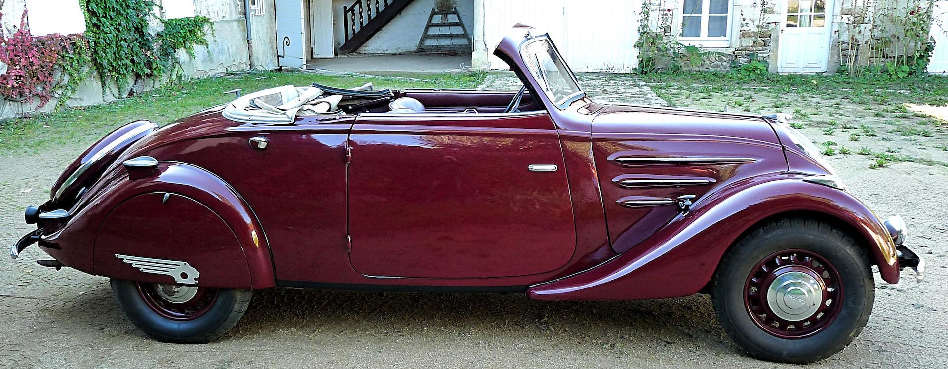 302 Peugeot cabriolet :3 profil
